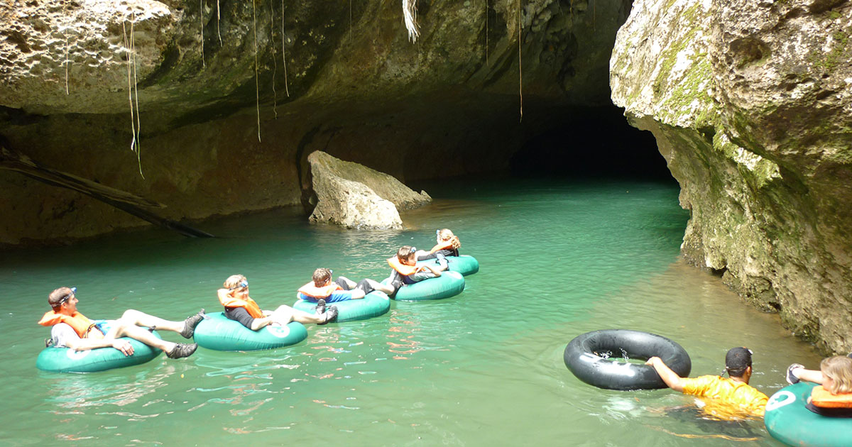 Day 7 - Transfer to Belize City/ Cave tubing en route/ Local flight to San Pedro